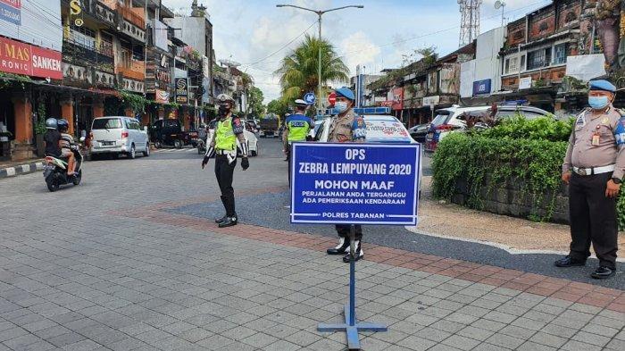 1.577 Pengendara di Tabanan Terjaring dalam Operasi Zebra Lempuyang 2020