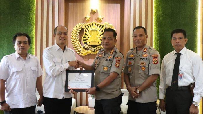 Sukses Amankan Pemilu 2019, Polresta Denpasar Terima Penghargaan dari KPU Denpasar