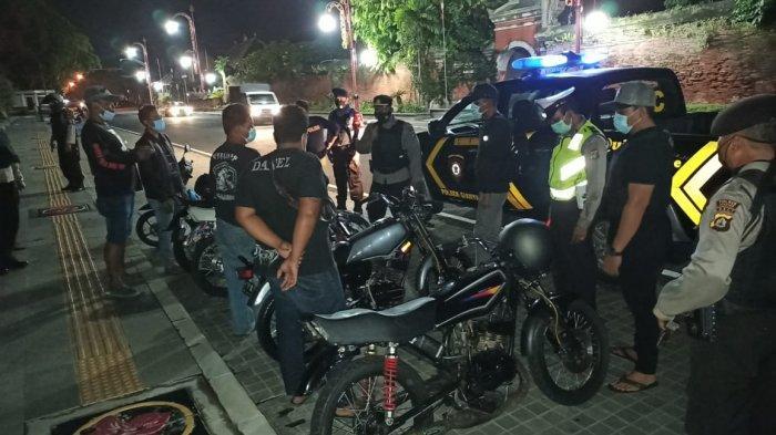 Patroli Malam, 9 Motor dan Remaja Diamankan Polsek Gianyar Bali