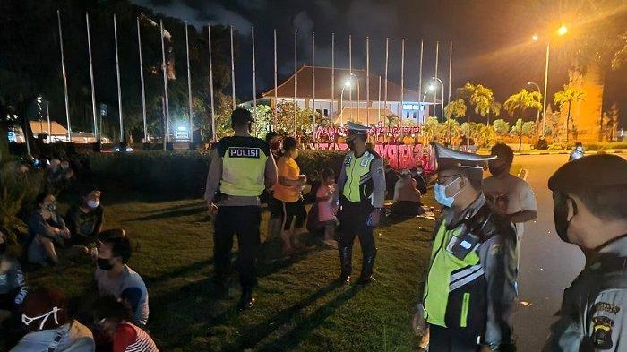 Ops Aman Nusa II, Polisi Sasar Areal Patung Kuda Badung, Masyarakat Diingatkan Tertib Prokes