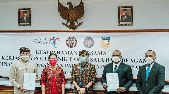 Poltekpar Bali Kerja Sama dengan Disbudpar Papua Bangun SDM Parekraf Unggul