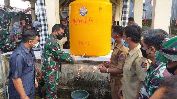 Air Bersih Hadir di Desa Gobleg Buleleng Bali, Perjuangan TNI dan Masyarakat Pasang Pompa Hidram