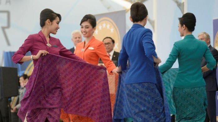 Oranye hingga Biru, Warna Seragam Pramugari Garuda Indonesia Punya Makna Berbeda