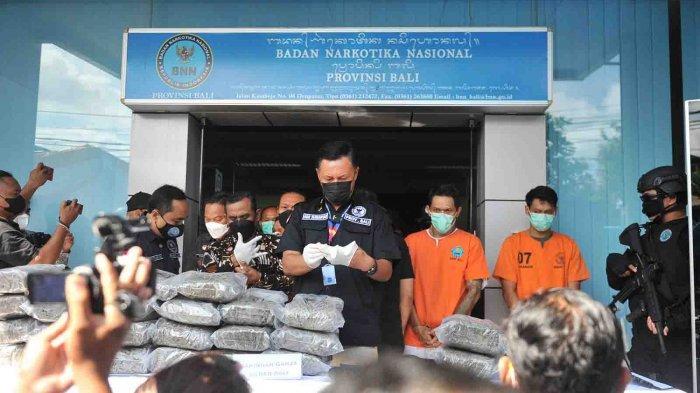 Penangkapan Bandar 44 Kg Ganja Berawal Dari Napi Lapas Kerobokan, Terancam Hukuman Mati