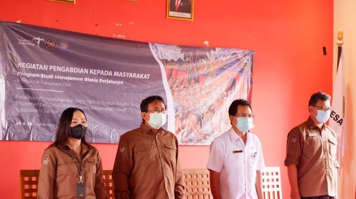 Siap Majukan Desa Wisata Sayan Gianyar, Prodi MBP Poltekpar Bali Berikan Pelatihan