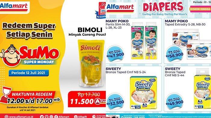 Promo Alfamart 13 Juli 2021, Minyak Goreng Bimoli 1L Rp11.500, Diapers Rp32.500, Teh Pucuk Gratisan