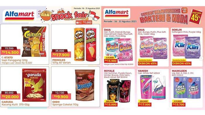Promo Alfamart 19 Agustus 2021, Promo Mi Instan, Deterjen Diskon 45%, Masker Wajah Beli 1 Gratis 1