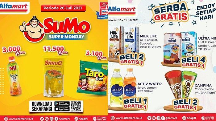 Promo Alfamart 26 Juli 2021, Minyak Goreng Bimoli 1L Rp11.500,Susu, Es Krim Beli 2 Gratis 1