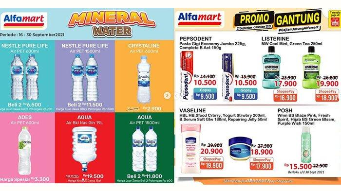 Promo Alfamart 28 September 2021, Promo Air Mineral, Listerine Rp17.900, Garnier 2 Gratis 1