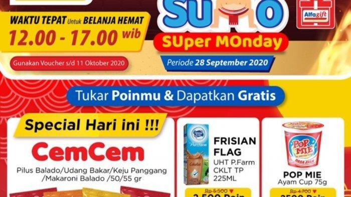 Katalog Promo Alfamart 28 September 2020, Promo JSM, Super Monday, Walls, Susu hingga Serba Gratis