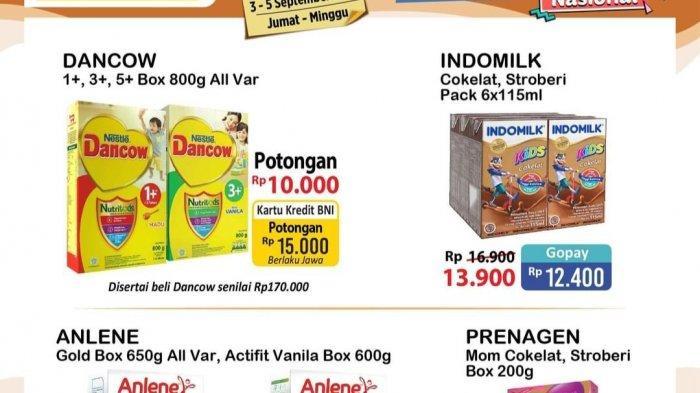 PROMO JSM Alfamart 3-5 September 2021, Susu Dancow Potongan 15.000, Mama Lemon 9.400, Deterjen MURAH