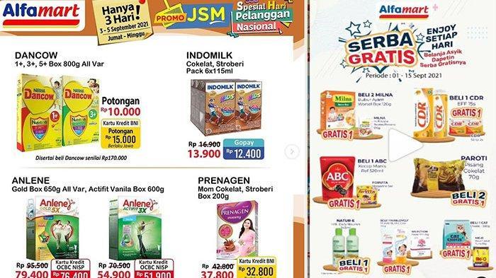 Promo Alfamart 4 September 2021, Diskon Beras, Dancow Potongan Rp10 Ribu, Natur-e Beli 1 Gratis 1