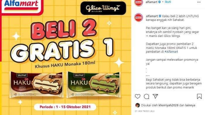 PROMO HARI INI 6 Oktober 2021, Glico Haku Monaca Beli 2 Gratis 1 Hanya di Alfamart