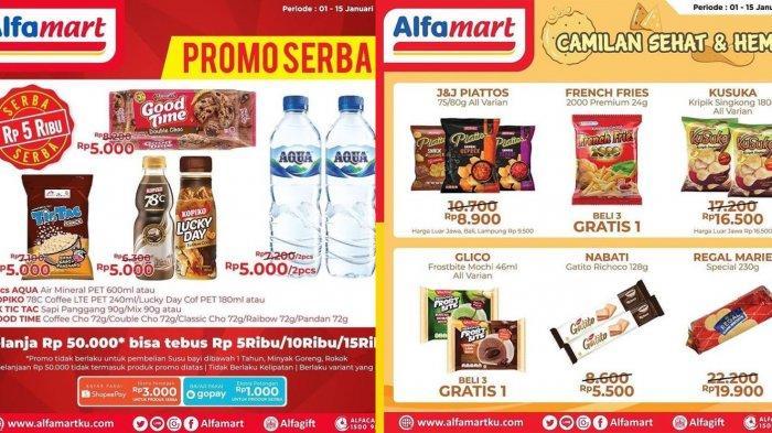 Hari Terakhir Promo Mingguan Alfamart 15 Januari, Beli 2 Gratis 1, Gratis Voucher hingga Rp 500 Ribu