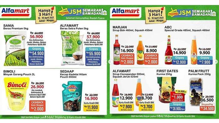 BARU! Promo Alfamart Besok 17 April 2021: GRATIS Minuman, Diskon Beras & Minyak Goreng, Kurma MURAH
