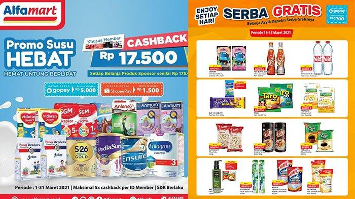 Promo Alfamart Besok 17 Maret 2021,Snack Beli 2 Gratis 1, Beli Susu Dapat Cashback Rp17.500
