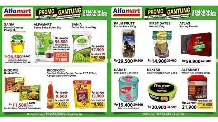 PROMO Alfamart BESOK 4 Mei 2021: Ada THR hingga Gratisan, Beras 5kg Rp50 Ribuan, Marjan Rp7.900