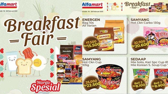 Promo Alfamart Breakfast Fair Hari Ini 17 Februari 2021, Energen 10s Rp15.500, Snack Beli 2 Gratis 1