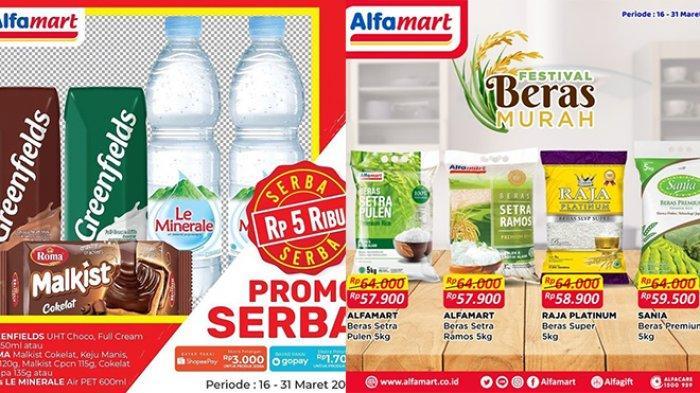 Promo Alfamart Hanya Hari Ini Rabu 31 Maret 2021, Serba Rp5.000, Minuman Diskon 30%, Beras Murah