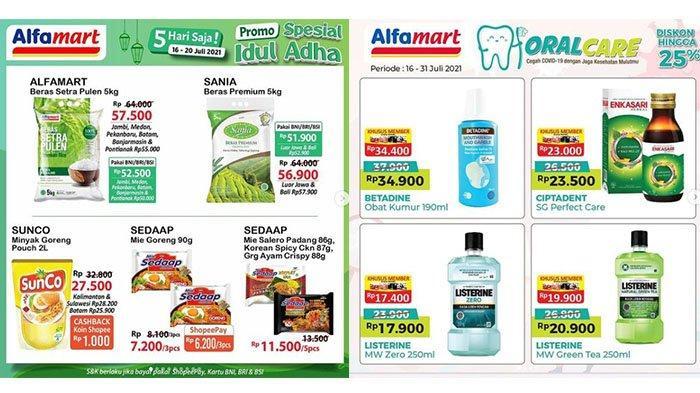 PROMO Alfamart Hari Idul Adha 20 Juli 2021: Beras - Mie Instan Lebih Murah, Listerine 250ml Rp17.900