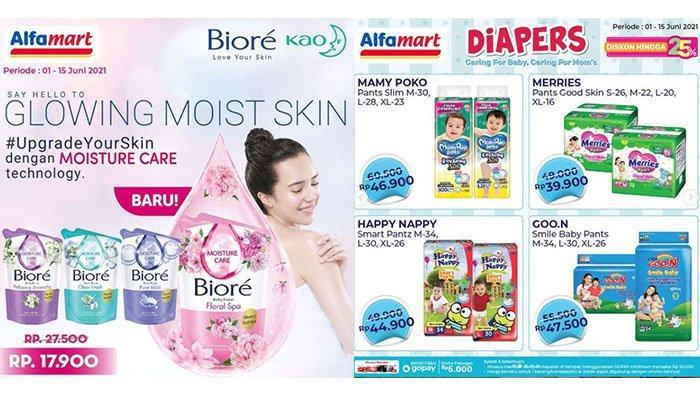 BARU! PROMO Alfamart Hari Ini 10 Juni 2021: Sabun Biore Rp17 Ribuan, Popok, Snack, Minuman Hemat