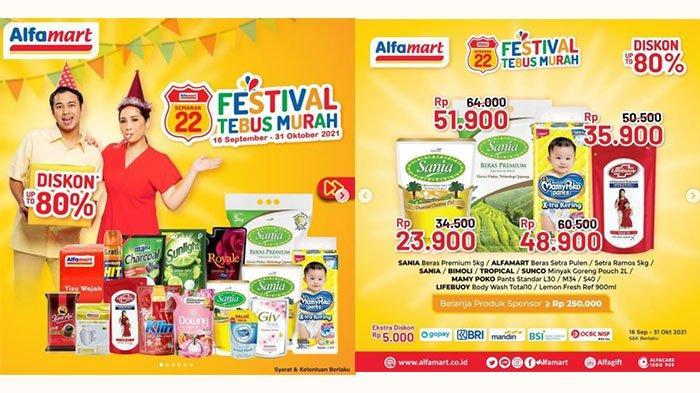 PROMO Alfamart Hari Ini 16 September 2021: Tebus Murah Minyak Goreng Rp11.800, Mamy Poko Rp48.900