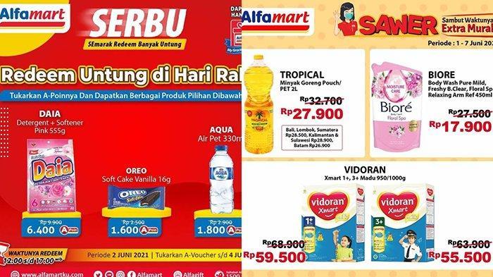 Promo Alfamart Hari Ini 3 Juni 2021, Daia 555G Rp6.400, Minyak Goreng Tropical 2L Rp26.900
