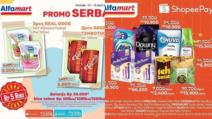 Promo Alfamart Hari Ini 6 April 2021, Beli Susu Gratis Minyak Goreng 2L, Paket Ramadhan Rp 8 Ribuan
