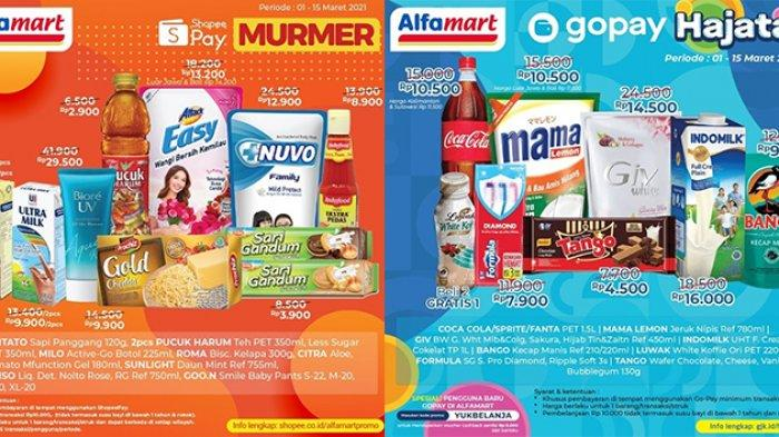 Promo Alfamart Hari Ini Sabtu 6 Maret 2021, Belanja Snack, Sabun Lebih Murah Pakai GoPay & ShopeePay