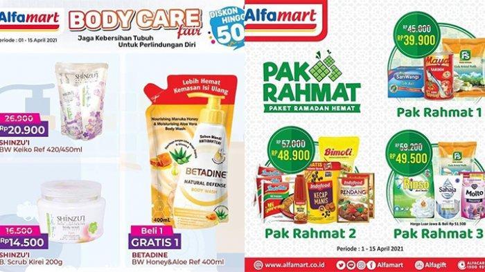 Promo Alfamart hingga 15 April 2021, Sabun Diskon 50%, Paket Minyak Goreng, Mie, Kecap Rp 40 Ribuan