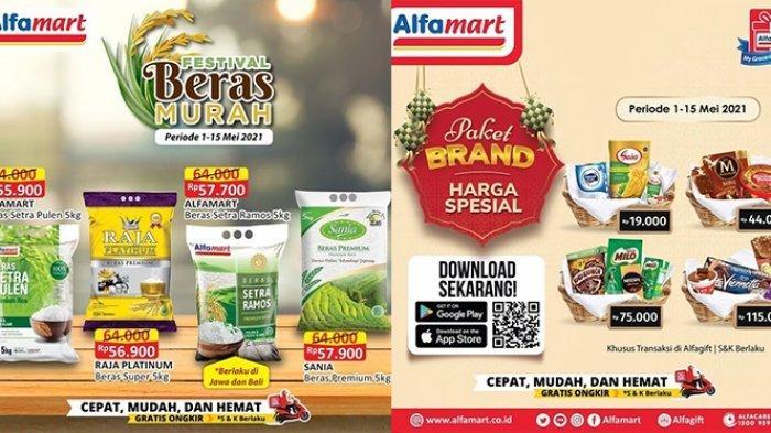 Promo Alfamart hingga 15 Mei 2021, Festival Beras Murah Rp55.900, Sirup, Biskuit Cashback Rp15.000