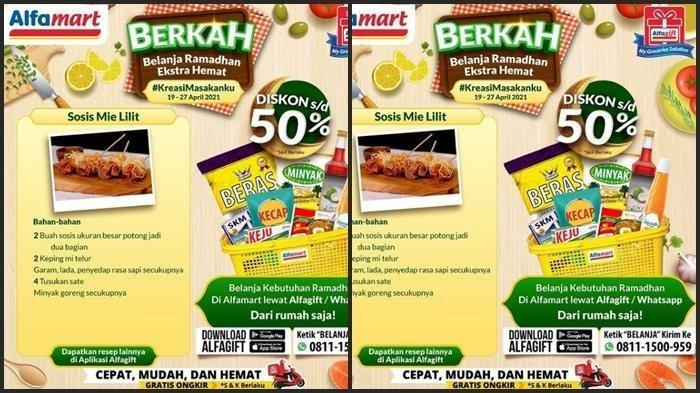 PROMO Alfamart Selasa 20 April 2021, Wow Ada Diskon 50 Persen di Belanja Super Hemat Ramadhan