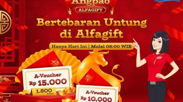 Promo Alfamart Spesial Imlek Hari Ini, Angpao Alfagift Rp15.000 dan Kejutan Angpao Potongan 50%