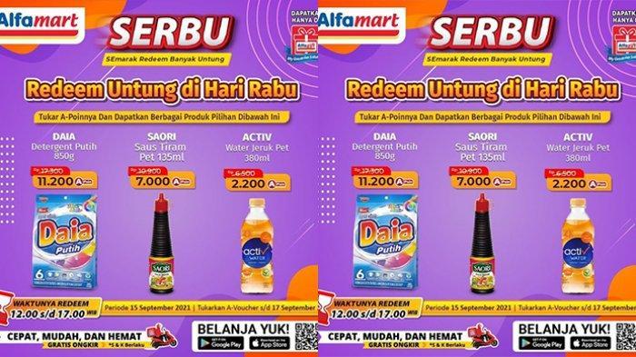 Promo Alfamart TERBARU 15-30 September 2021, Daia 880Gr Rp11.200, Activ Water 380Ml Rp2.200
