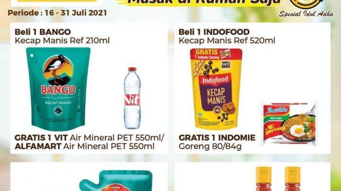 Promo Alfamart TERBARU 21-22 Juli 2021, Beli Kecap Gratis Mi Instan, Sarden ABC 9.000, Daia 15.000