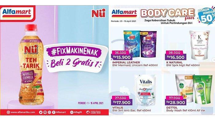 PROMO Alfamart Terbaru 5 April 2021: Paket Ramadhan Hemat, Sabun Diskon, Beli 2 NU Milk Tea Gratis 1