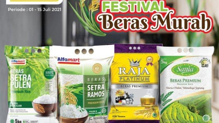 PROMO Alfamart TINGGAL 3 HARI, Beras 5kg Rp56.500, Mamy Poko M30 Rp47.900, Margarin Rp15.000/4pcs