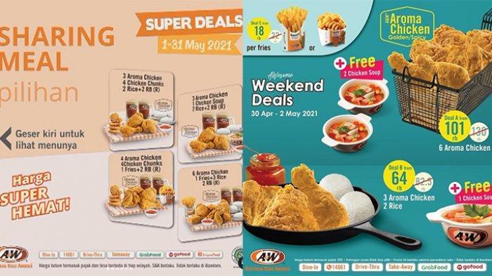 Promo A&W Super Hemat TERBARU 1-31 Mei 2021,6 Potong Ayam Rp 100 Ribuan, Burger Beli 1 Gratis 1