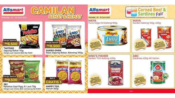 PROMO BARU Alfamart hingga Besok 9 Juni 2021: Kornet-Sarden Turun Harga, Snack Happy Tos Gratis