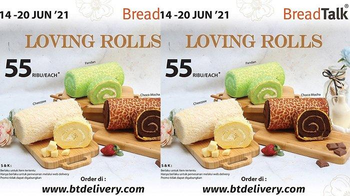 Promo BreadTalk TERBARU 14-20 Juni 2021, Roll Cakes Rp55.000, Pandan, Cheezzee, atau Choco Mocha?