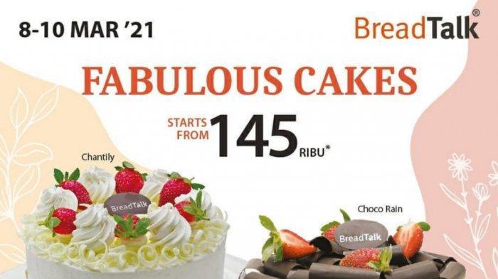 Promo BreadTalk Terbaru 8-10 Maret 202, Cake Utuh Mulai dari Rp 145.000