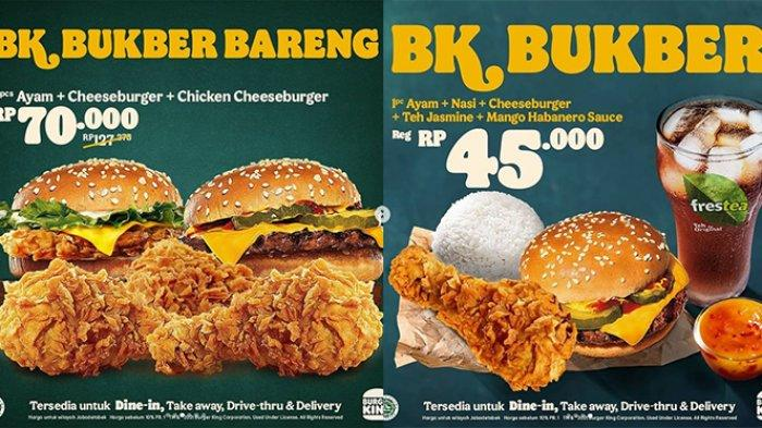 Promo Burger King 30 April 2021, 3 Potong Ayam, Cheeseburger, Chicken Cheeseburger Rp 70 Ribuan