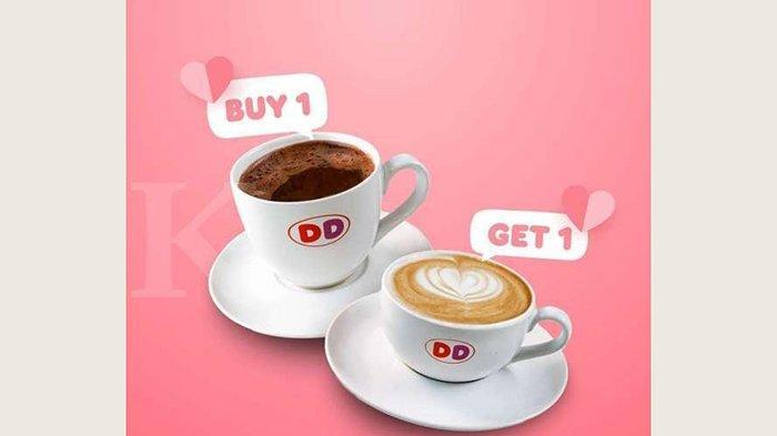 Promo Dunkin Donuts beli 1 minuman gratis 1