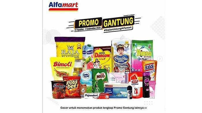 Promo Gantung Alfamart 27 Agustus - 2 September 2020, Diskon Susu, Minyak Goreng hingga Camilan