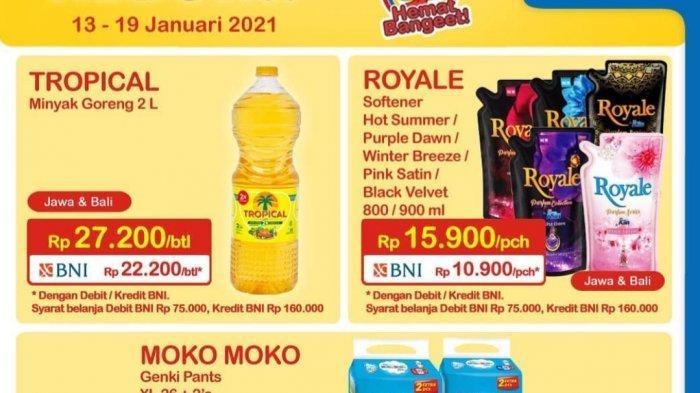 Promo Heboh Indomaret 13-19 Januari 2021, Diskon Diapers & Softener, Minyak Goreng 2L Rp 22.200