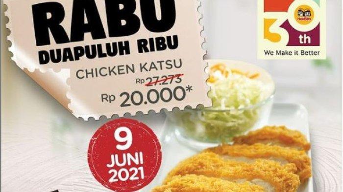 PROMO Hokben Hari Ini 9 Juni 2021, Menu Chicken Katsu Murah Rp 20 Ribuan Saja