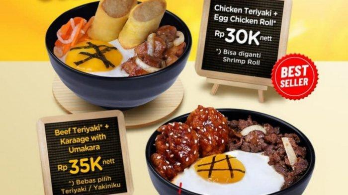 Super Bowl! Promo HokBen Hari Ini 11 September 2021, Chicken Teriyaki + Egg Chicken Roll Rp 30.000