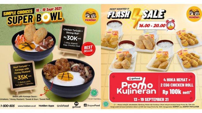 Promo HokBen Hari Ini 17 September 2021, 4 Hoka Hemat + 2 Egg Chicken Roll Rp 100 Ribu