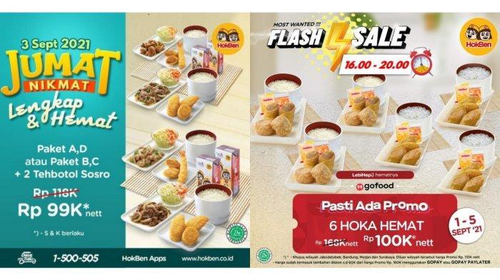 JUMAT NIKMAT! Promo HokBen Hari Ini 3 September 2021, Paket A + D + 2 Tehbotol Sosro Rp 99.000