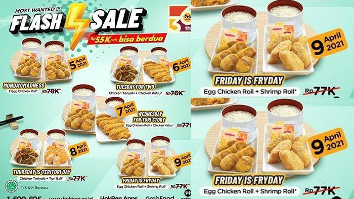 Promo HokBen Jumat 9 April 2021, Egg Chicken Roll + Shrimp Roll Rp55.000, Hari Terakhir Flash Sale!